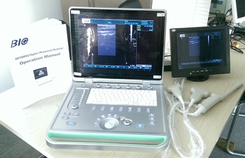 3D Digital Laptop Portable Ultrasound Scanner With Convex Probe Transvaginal Linear Probe