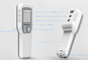 Medical Device Vein Locator Handheld Vein Finder For Venipuncture Using Infrared Red Light Without Radiation